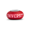 Arkansas State Collegiate Red Glass Bead