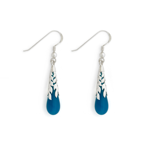 """Atlantis"" Leaf Teardrop Earrings"