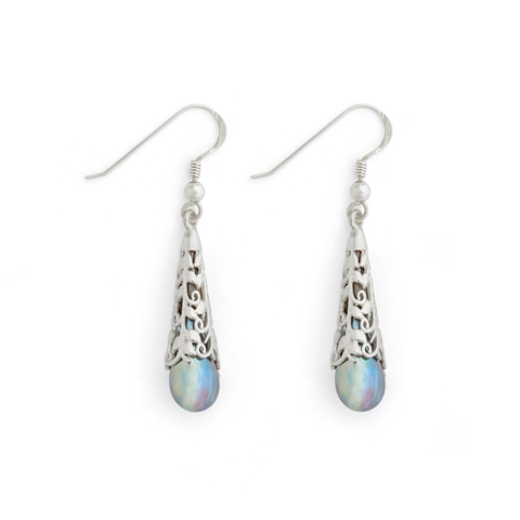 """Aurora"" Vine Teardrop Earrings"