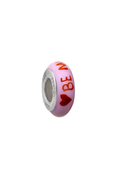 Be Mine, Valentine Murano Glass Bead Spacer