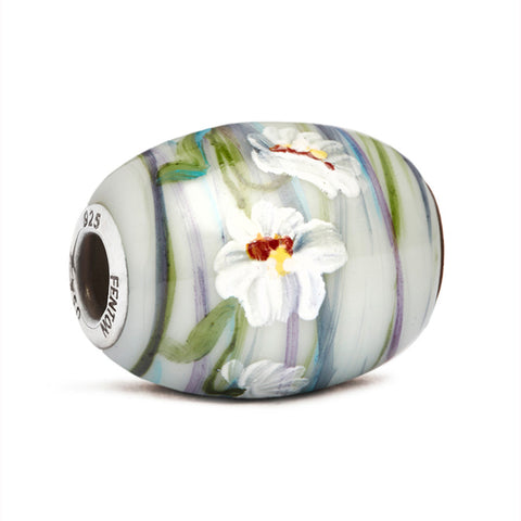 """Blooms Among the Brambles"" Glass Cornerstone Bead"