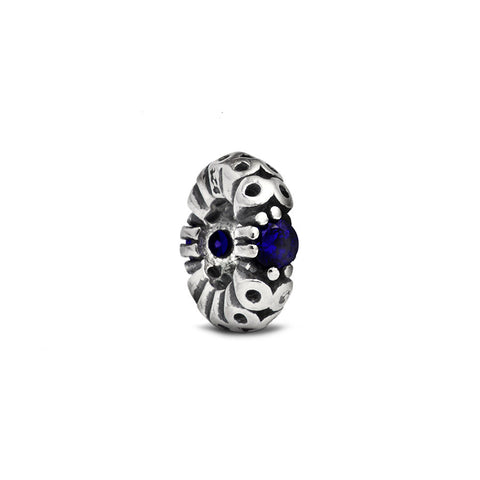 Blue Crystal Accent Spacer Charm