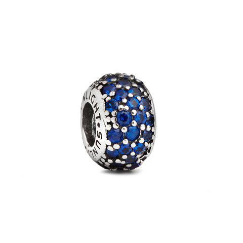 Blue Crystal Spacer Charm