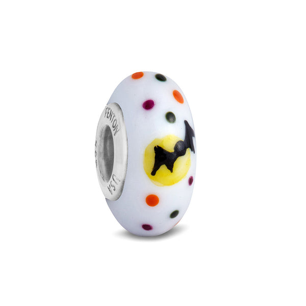 """Boo to You"" Hand Decorated Glass Bead"