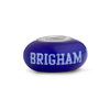 Bringham Young Collegiate Blue Glass Bead - Fenton Glass Jewelry - 1