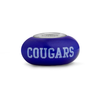 Bringham Young Collegiate Blue Glass Bead