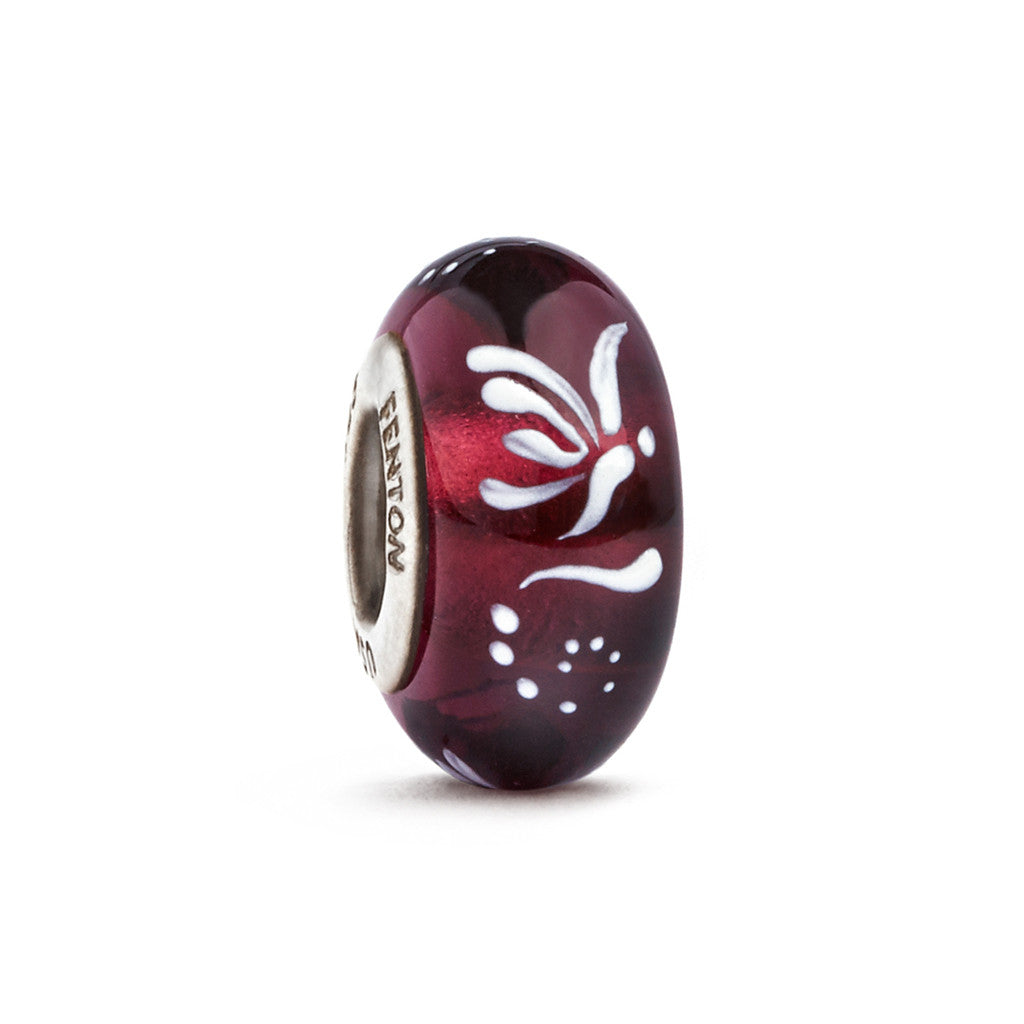 """Butterfly Spirit"" Hand Decorated Glass Bead - Fenton Glass Jewelry"