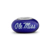 Mississippi Collegiate Blue Glass Bead - Fenton Glass Jewelry - 1