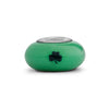 Notre Dame Collegiate Green Glass Bead - Fenton Glass Jewelry - 2