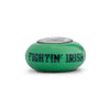 Notre Dame Collegiate Green Glass Bead - Fenton Glass Jewelry - 1