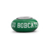 Ohio University Collegiate Green Glass Bead - Fenton Glass Jewelry - 2