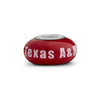 Texas A&M Aggies Collegiate Maroon Glass Bead - Fenton Glass Jewelry - 1