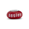 Texas A&M Aggies Collegiate Maroon Glass Bead - Fenton Glass Jewelry - 2