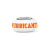 Miami Hurricanes Collegiate Milk Glass Bead - Fenton Glass Jewelry - 2