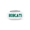 Ohio University Collegiate Milk Glass Glass Bead - Fenton Glass Jewelry - 2