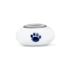 Penn State Collegiate Milk Glass Bead - Fenton Glass Jewelry - 2