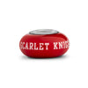 Rutgers Collegiate Red Glass Bead - Fenton Glass Jewelry - 1