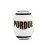 Purdue Collegiate Milk Glass Cornerstone Bead - Fenton Glass Jewelry - 1