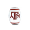 Texas A & M Collegiate Milk Glass Cornerstone Bead - Fenton Glass Jewelry - 2