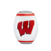 Wisconsin Collegiate Milk Glass Cornerstone Bead - Fenton Glass Jewelry - 1
