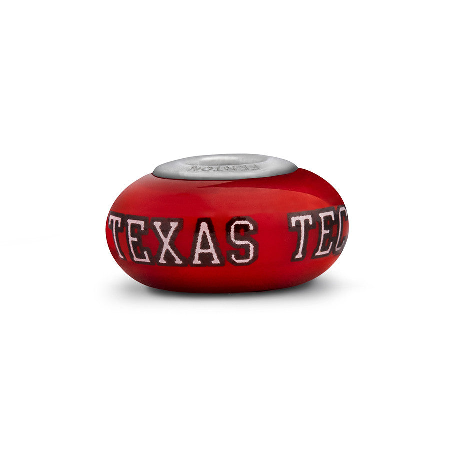 Texas Tech Collegiate Red Glass Bead - Fenton Glass Jewelry - 1