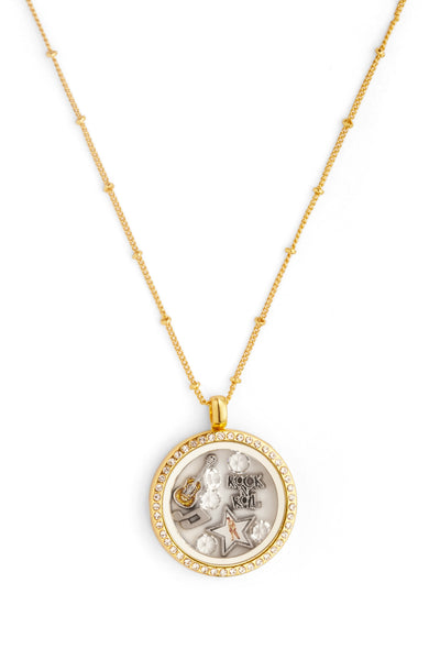 Elvis Floating Charm Necklace: King of Rock 'n' Roll