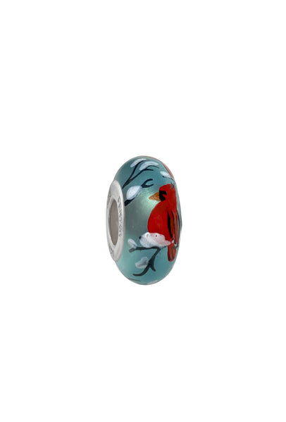 Cardinal Blessings Murano Glass Bead