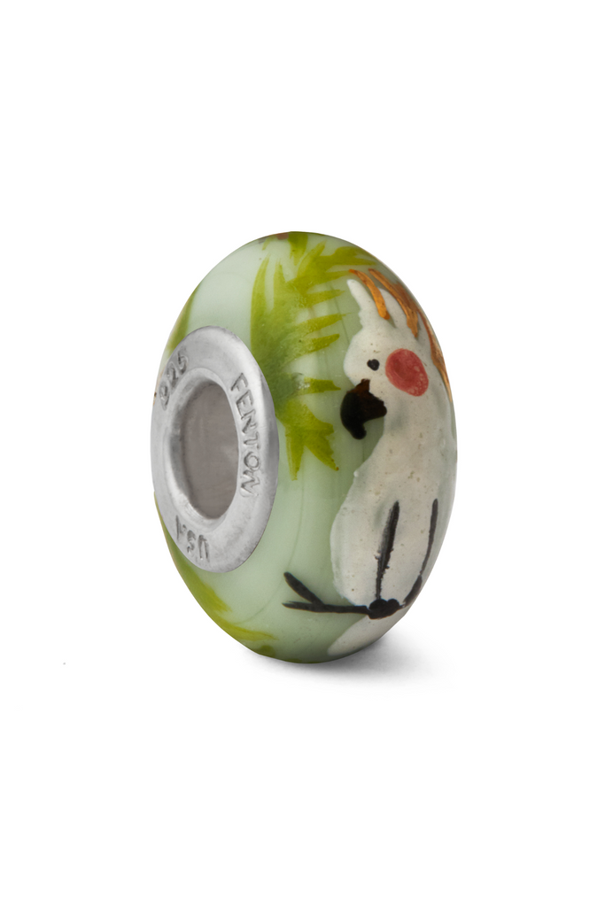 Cockatiel Murano Glass Bead