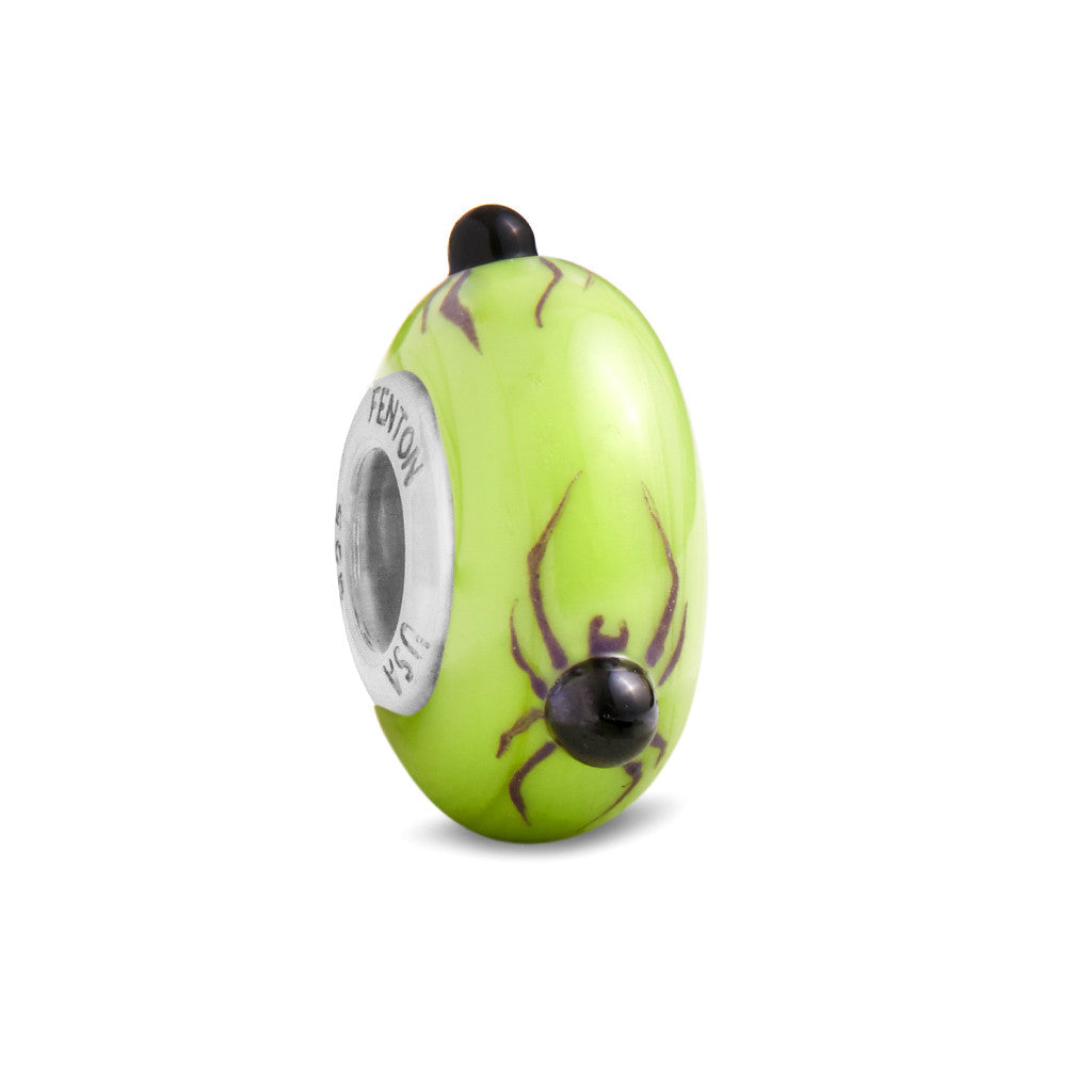 """Creepy Crawly Spider"" Hand Decorated Glass Bead"
