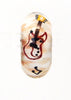 Elvis Guitar & Music Notes Hand Decorated Glass Bead