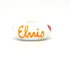 Elvis Kisses Hand Decorated Glass Bead