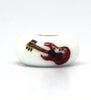 Elvis Presley Red Guitar Hand Decorated Glass Bead