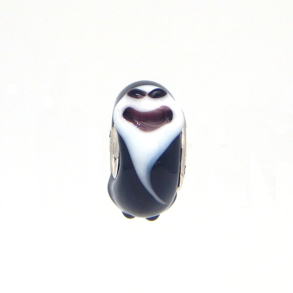 """Ghosts of the Night"" Glass Crafted Bead"