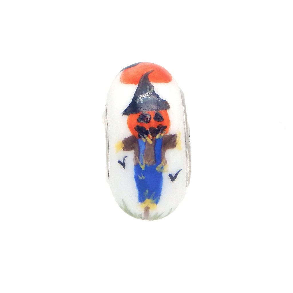 """Silent Scarecrow"" Hand Decorated Glass Bead"
