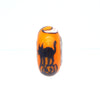 """The Black Cat"" Hand Decorated Glass Bead"
