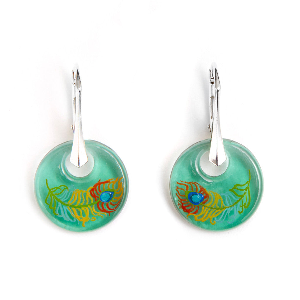 """Dignity and Beauty"" Hand Decorated Earrings"