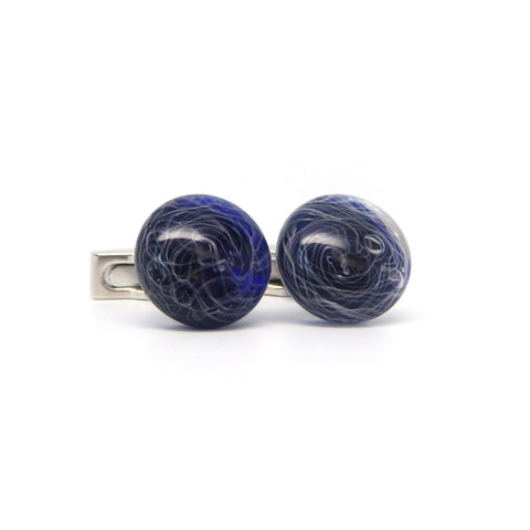 """Windstorm"" Glass Crafted Cufflinks"