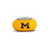 Michigan Collegiate Yellow Glass Bead - Fenton Glass Jewelry - 2