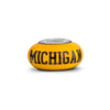 Michigan Collegiate Yellow Glass Bead - Fenton Glass Jewelry - 1