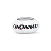Cincinnati Collegiate Milk Glass Bead - Fenton Glass Jewelry - 1