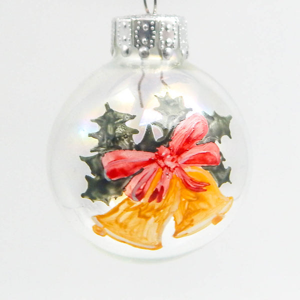 Bells & Holly Mini Ornament