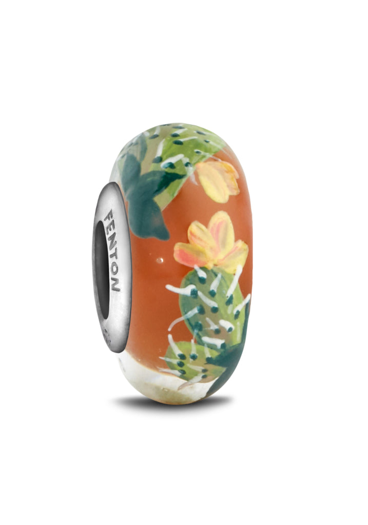 """Feisty Flora"" Hand Decorated Glass Bead"