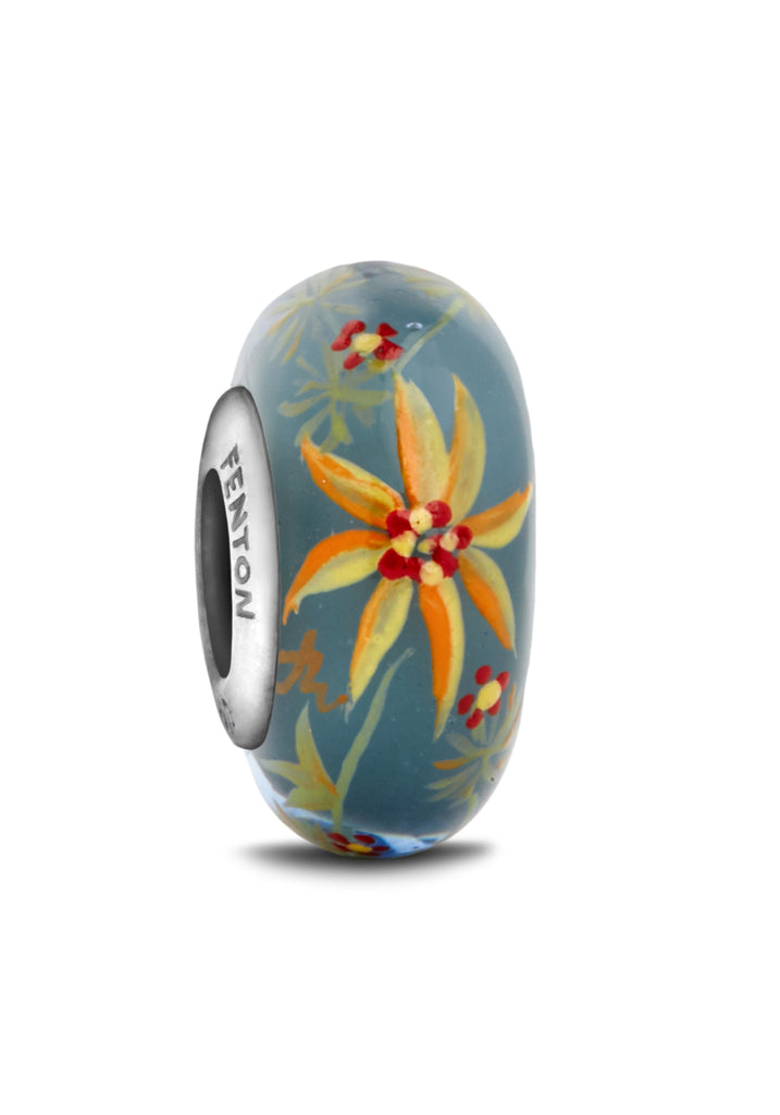 """Hidden Oasis"" Hand Decorated Glass Bead"