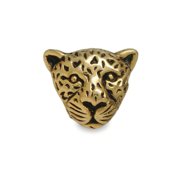 Golden Cheetah Spacer Charm