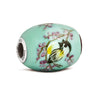 """Chickadee"" Glass Cornerstone Bead - Fenton Glass Jewelry - 1"