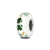 """Wee Bit Irish"" Hand Decorated Bead - Fenton Glass Jewelry - 2"