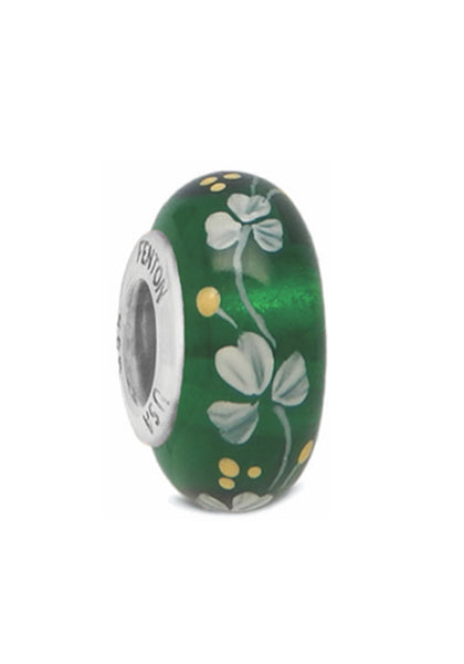 """Irish Charm"" Hand Decorated Bead"