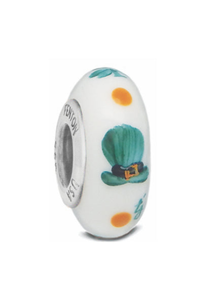 """Tip My Hat To You"" Hand Decorated Bead"
