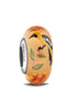 """Flashy Fowl"" Hand Decorated Glass Bead"