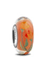"""Gentle and Free"" Hand Decorated Glass Bead"